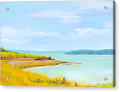 Bay Of Fundy From Eastport Acrylic Print