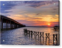 Bay St. Louis Sunset Acrylic Print by Brian Wright