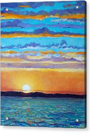 Bay Sunset Acrylic Print by Robert Henne