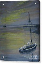 Bayside Boat Acrylic Print