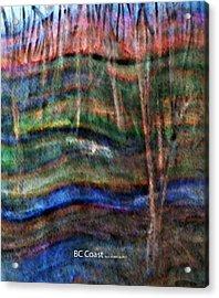 Bc Coast Acrylic Print by AnneLise McCoy
