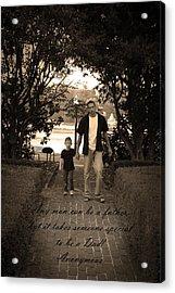Be A Dad Acrylic Print by Kelly Hazel