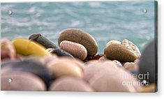 Beach And Stones Acrylic Print by Stelios Kleanthous