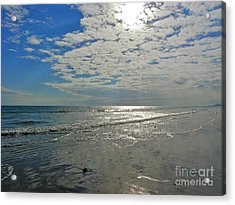 Acrylic Print featuring the photograph Beach At Dawn by Eve Spring
