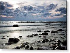 Beach At Dusk Acrylic Print by Carol Hathaway