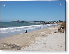 Beach At El Granada Acrylic Print by Carolyn Donnell