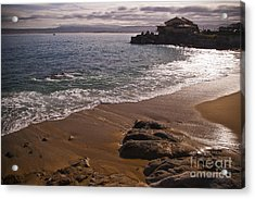 Beach At Monteray Bay Acrylic Print