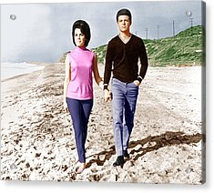 Beach Blanket Bingo, From Left Annette Acrylic Print by Everett