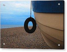 Beach Boat Acrylic Print by Duncan Nelson