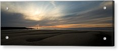 Beach Casters On The Wirral Acrylic Print by Wayne Molyneux