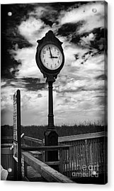 Beach Clock Acrylic Print by Thanh Tran
