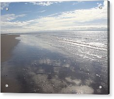 Beach Clouds Acrylic Print by Emma Manners