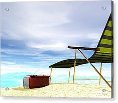 Acrylic Print featuring the digital art Beach Day by John Pangia