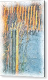 Acrylic Print featuring the photograph Beach Fence by Lynne Jenkins