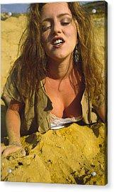 Beach Girl Acrylic Print by Franz Roth