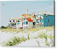 Beach House Acrylic Print by Carol  Bradley