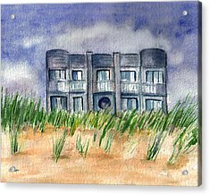 Acrylic Print featuring the painting Beach House by Clara Sue Beym