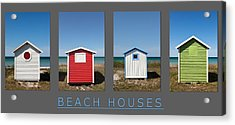 Beach Houses Acrylic Print