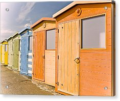 Beach Huts Acrylic Print by Phil Clements