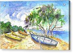 Beach In Ayia Napa Acrylic Print by Miki De Goodaboom