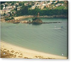 Beach In Galicia Acrylic Print by Jenny Senra Pampin