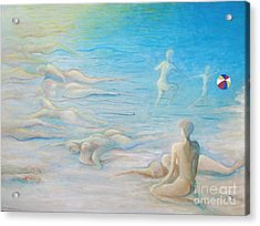Beach Inhabitants Acrylic Print