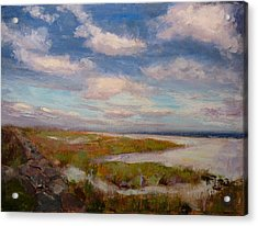 Acrylic Print featuring the painting Beach by Joe Bergholm