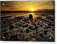 Beach Morning Glory Acrylic Print by Svetlana Sewell
