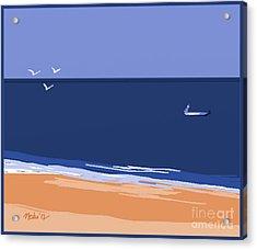 Beach Acrylic Print by Nedunseralathan R