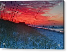 Beach On Fire Acrylic Print by At Lands End Photography