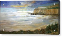 Beach On Highway One Acrylic Print by Max Mckenzie