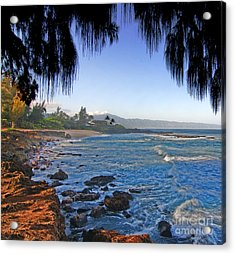 Beach On North Shore Of Oahu Acrylic Print
