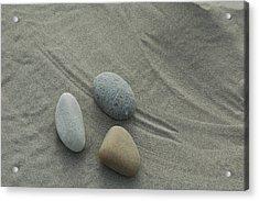 Beach Rocks Still Life Acrylic Print