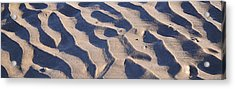 Beach Sand At Sunset Acrylic Print by Phill Petrovic