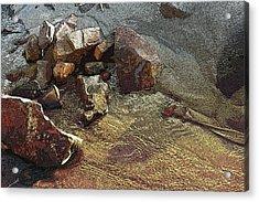 Beach Sand  Acrylic Print by Mary Gaines