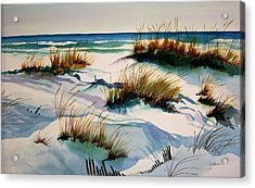 Beach Shadows Acrylic Print