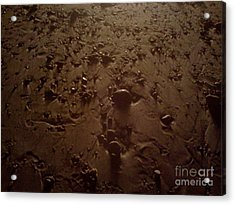 Beach Stones At Night Acrylic Print by Wendy Marelli