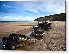 Beach Stones Acrylic Print by Svetlana Sewell