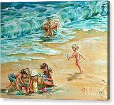 Beach Streaker Acrylic Print by Sandra Valentini