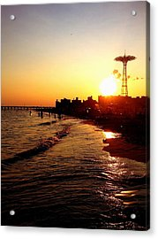Beach Sunset - Coney Island - New York City Acrylic Print