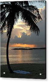 Beach Sunset Acrylic Print by Coby Cooper