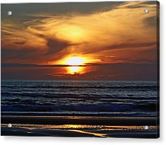 Beach Sunset  Acrylic Print by Pamela Patch