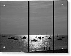 Beach Triptych  Acrylic Print by Kevin Bates