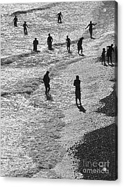 Beach Walkers 2 Acrylic Print by Tim Bird