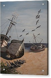 Beached Boats Acrylic Print