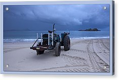 Acrylic Print featuring the digital art Beached Tractor by Kevin Chippindall