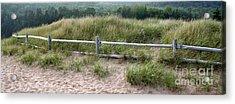 Beachside Fence Panorama Acrylic Print by Chris Hill