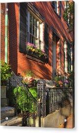 Beacon Hill Sidewalks Acrylic Print by Joann Vitali