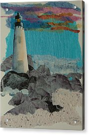 Beacon On The Rocks Acrylic Print