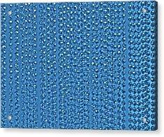 Beaded Blue Acrylic Print by James Mancini Heath